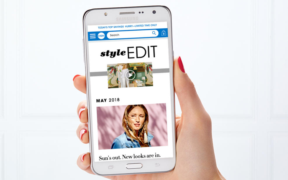 a cellphone showing the style edit on the HSN app