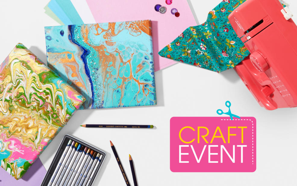 Craft Event. Crafting supplies.