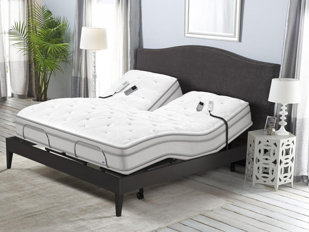two adjustable side by side mattresses