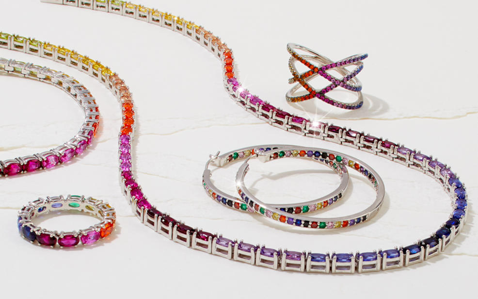 jewelry in colorful gemstones