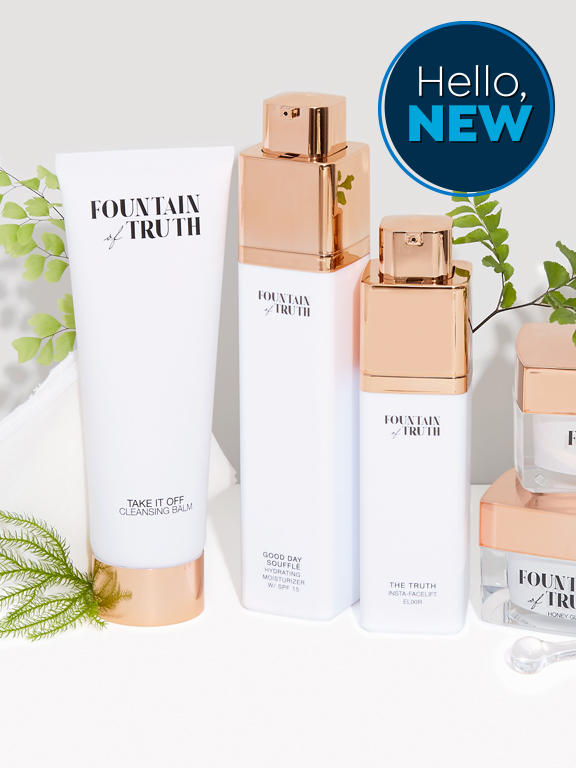 Hello New. fountain of truth beauty care products