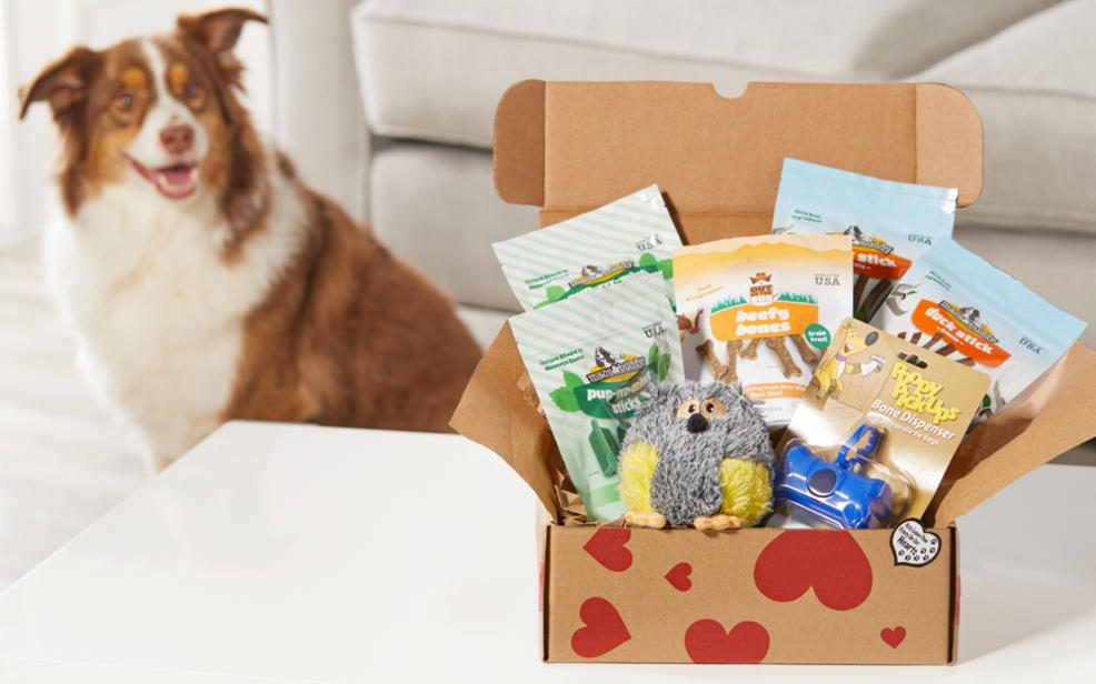 Pet products in a box