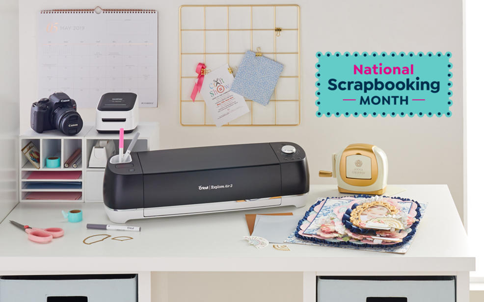 National scrapbooking month. a cricut craft printer
