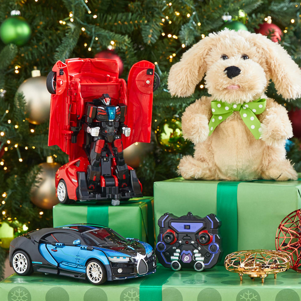 Christmas toys under the tree