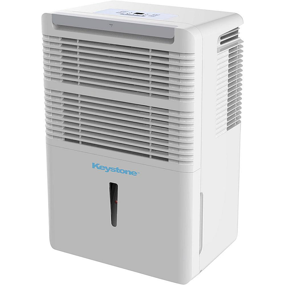 Keystone 50-Pint Dehumidifier with Full Bucket Alert and Automatic Shutoff