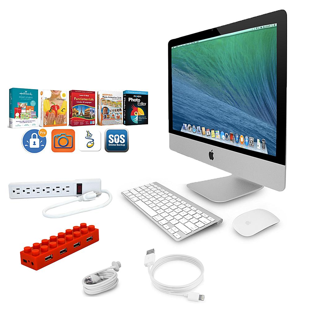 Apple iMac 27 5K Retina Display, 3.2GHz Intel Core i5 Quad-Core, 8GB RAM, 1TB HDD All-in-One Desktop Computer with USB Hub, Surge Protector and Software