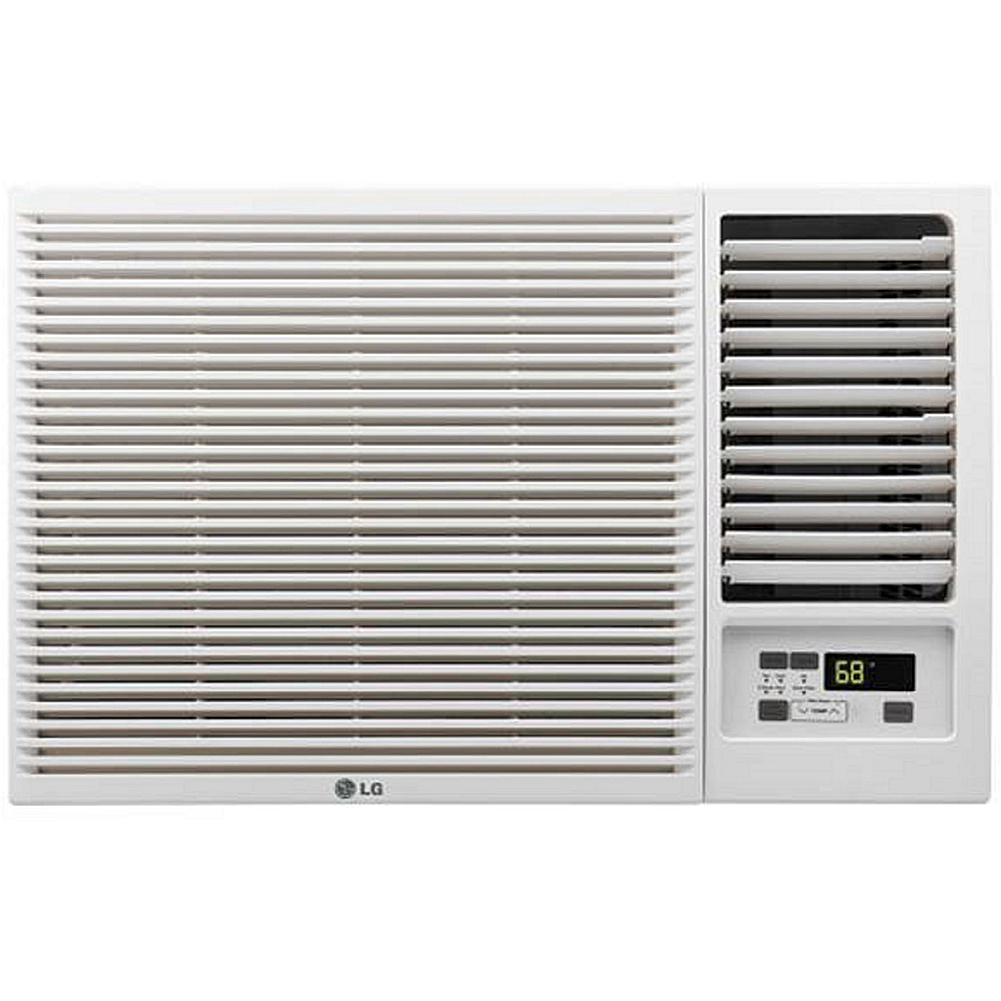 LG 12,000 BTU Window-Mounted Air Conditioner with Heating and Remote Control