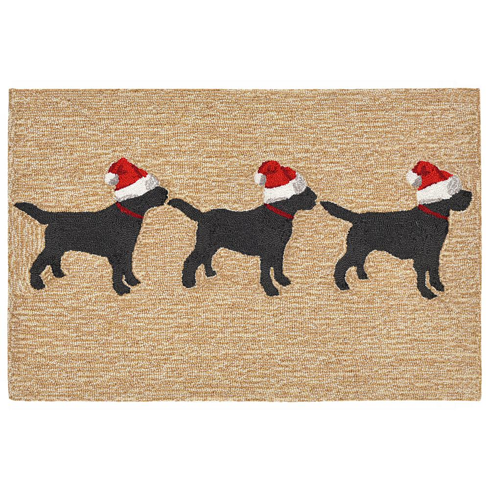 "Liora Manne 3 Dogs Christmas Rug - 30"" x 48"""