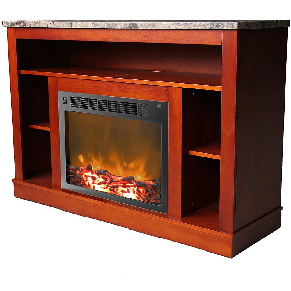 Cambridge Seville Fireplace Mantel with Electronic Fireplace Insert - Cherry