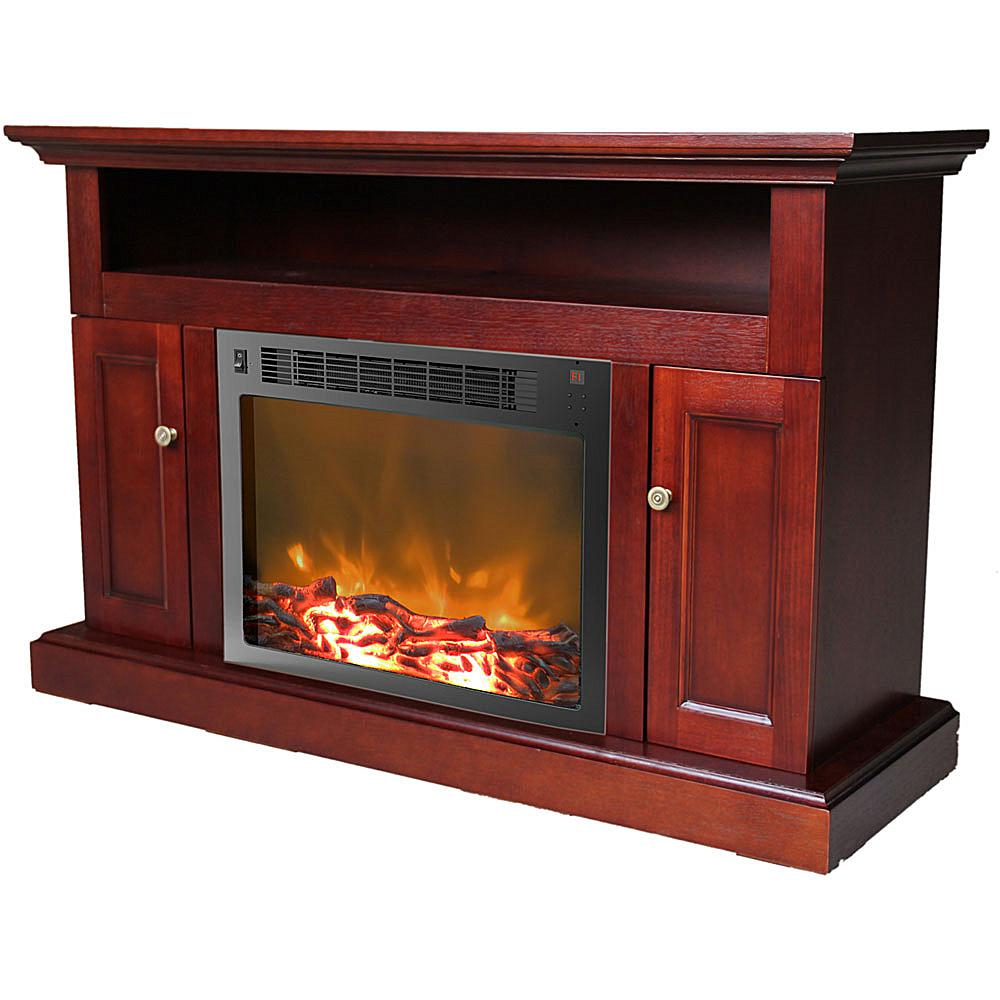 Cambridge Sorrento Fireplace Mantel with Electronic Fireplace Insert - Mahogany