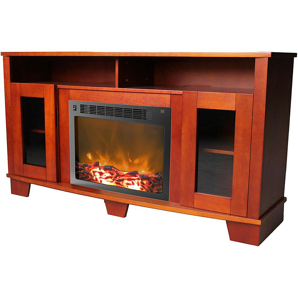 Cambridge Savona Fireplace Mantel with Electronic Fireplace Insert - Cherry