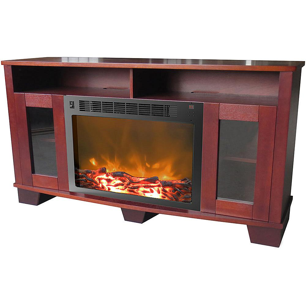 Cambridge Savona Fireplace Mantel with Electronic Fireplace Insert - Mahogany