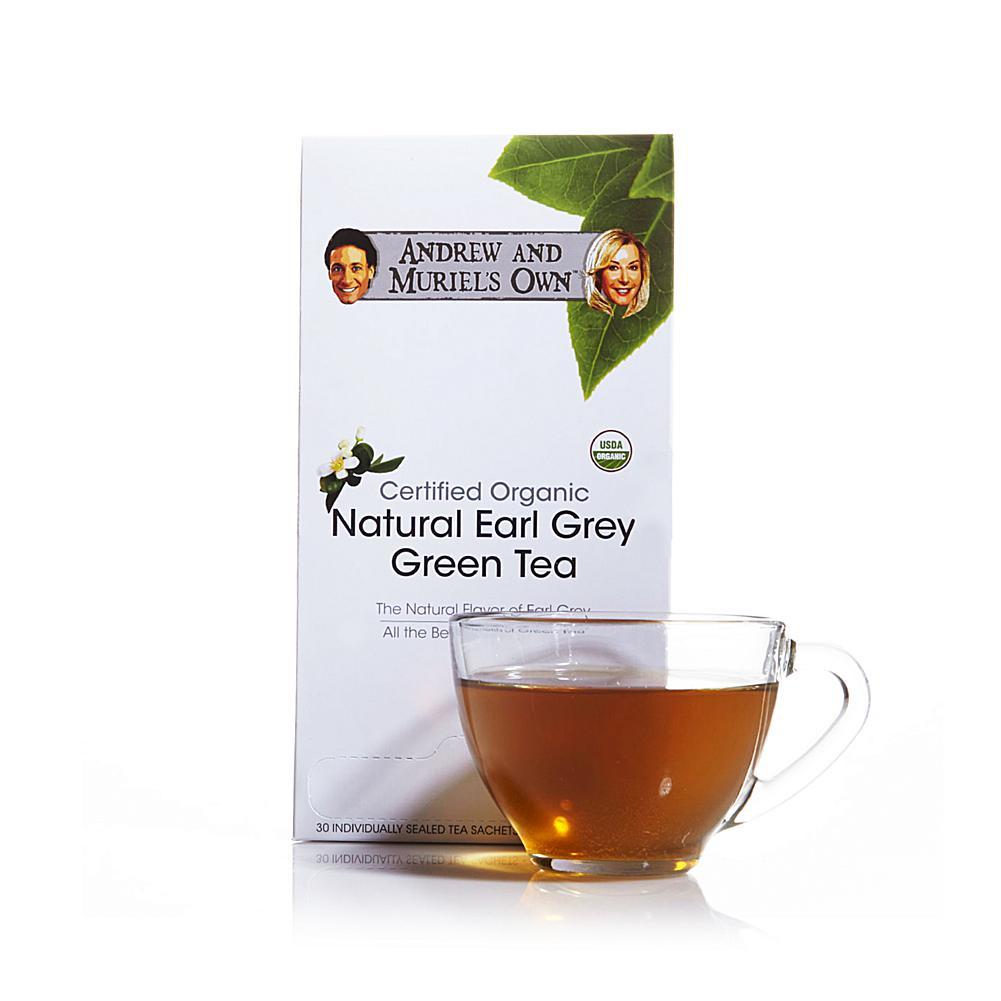 Andrew Lessman Certified Organic Natural Earl Grey Green Tea - 30 Sachets