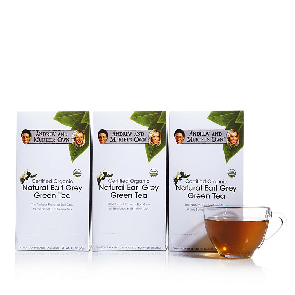 Andrew Lessman Certified Organic Natural Earl Grey Green Tea - 90 Sachets