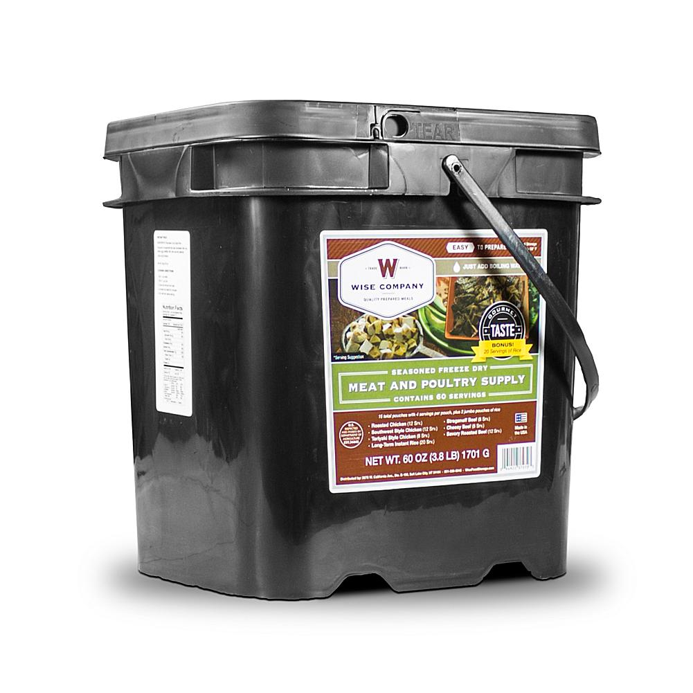 As Seen on TV Wise Company 80-Serving Freeze-Dried Meat and Rice Kit