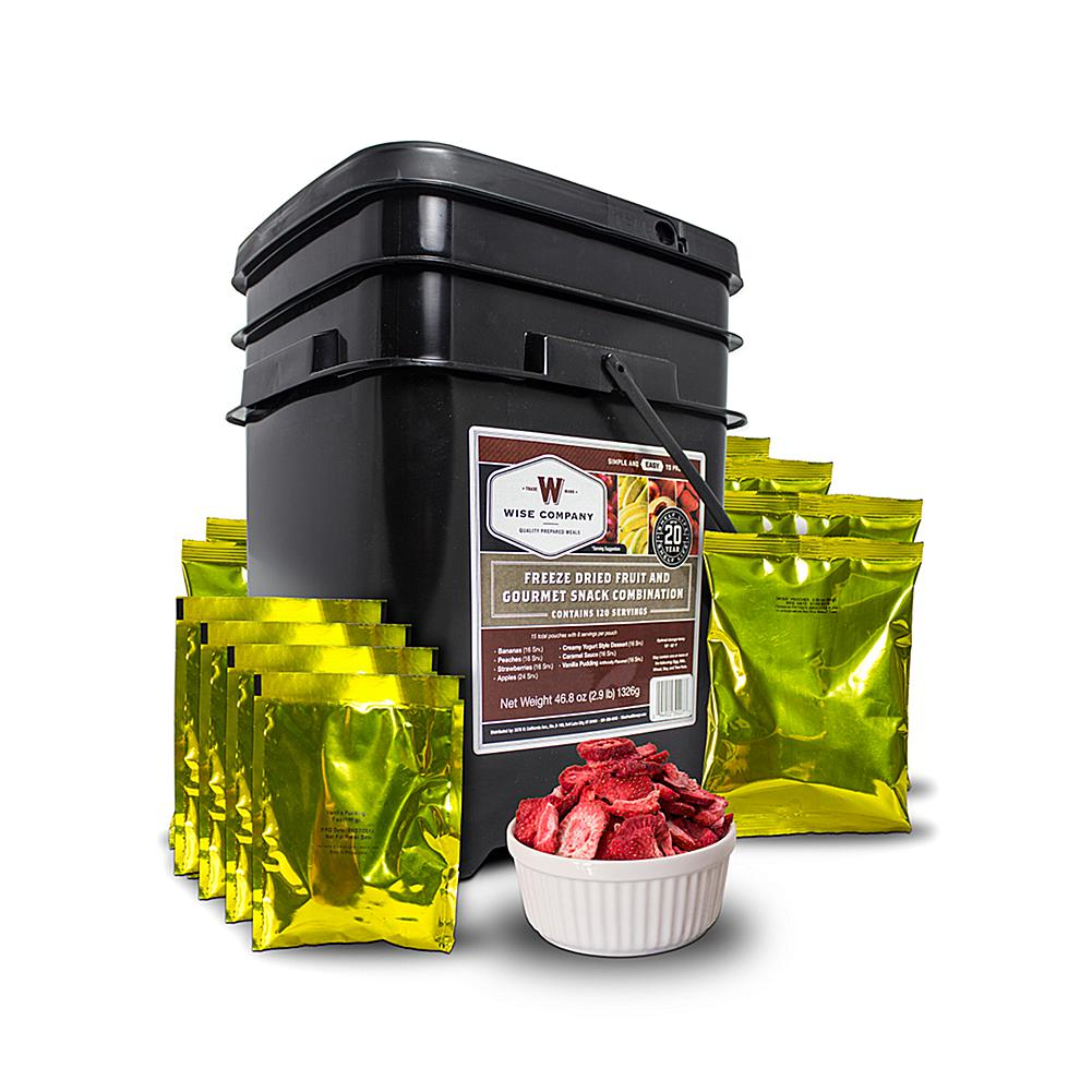 As Seen on TV Wise Company 120-Serving Freeze-Dried Fruit, Pudding and Sauce Kit