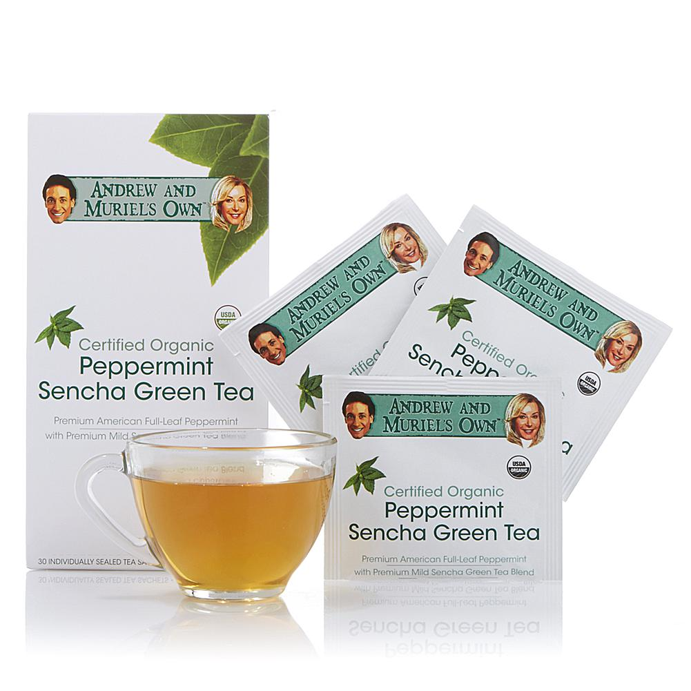 Andrew Lessman Certified Organic Peppermint Sencha Green Tea - 30 Sachets