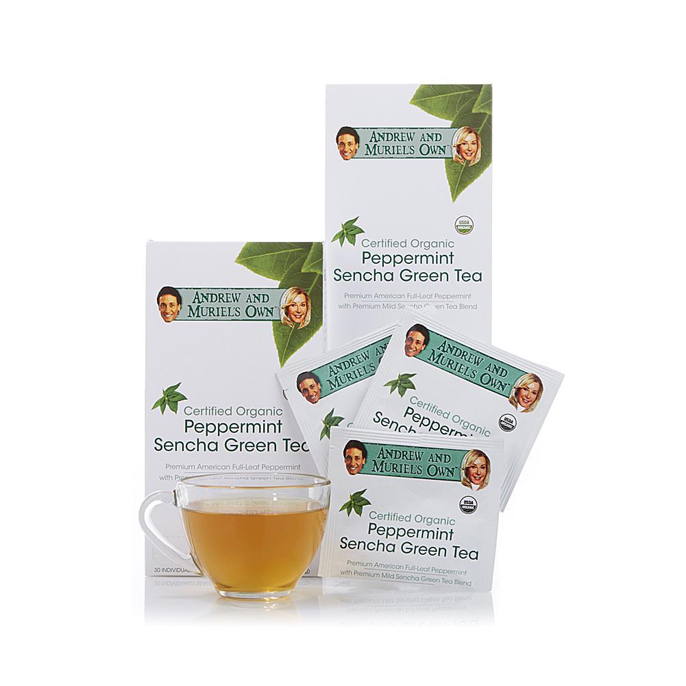 Andrew Lessman Certified Organic Peppermint Sencha Green Tea - 60 Sachets