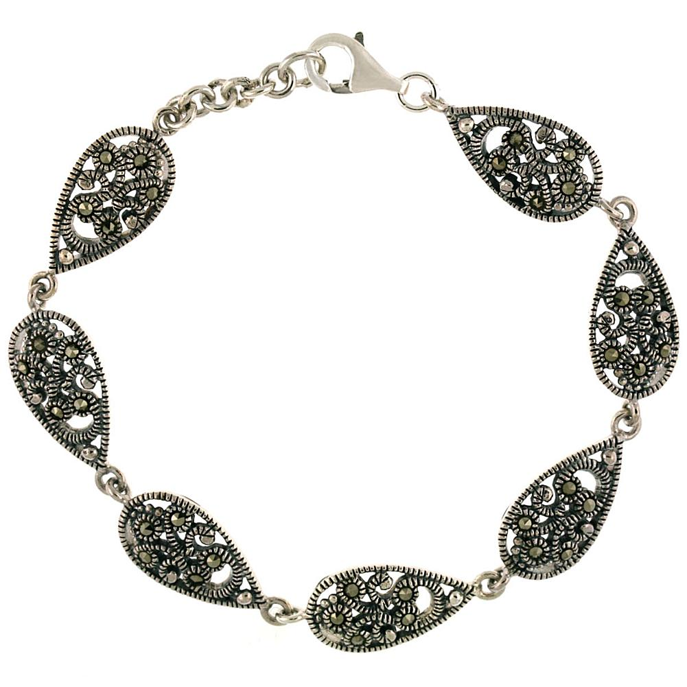 DESIGNS BY FMC Marcasite Sterling Silver Filigree