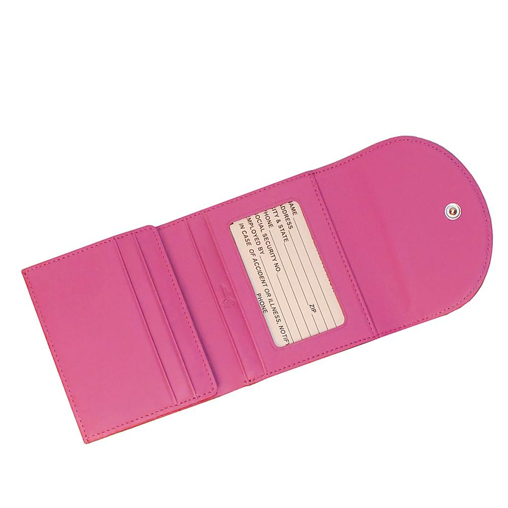 Royce RFID-Blocking Woman's Nappa Leather Wallet with Magnetic Closure