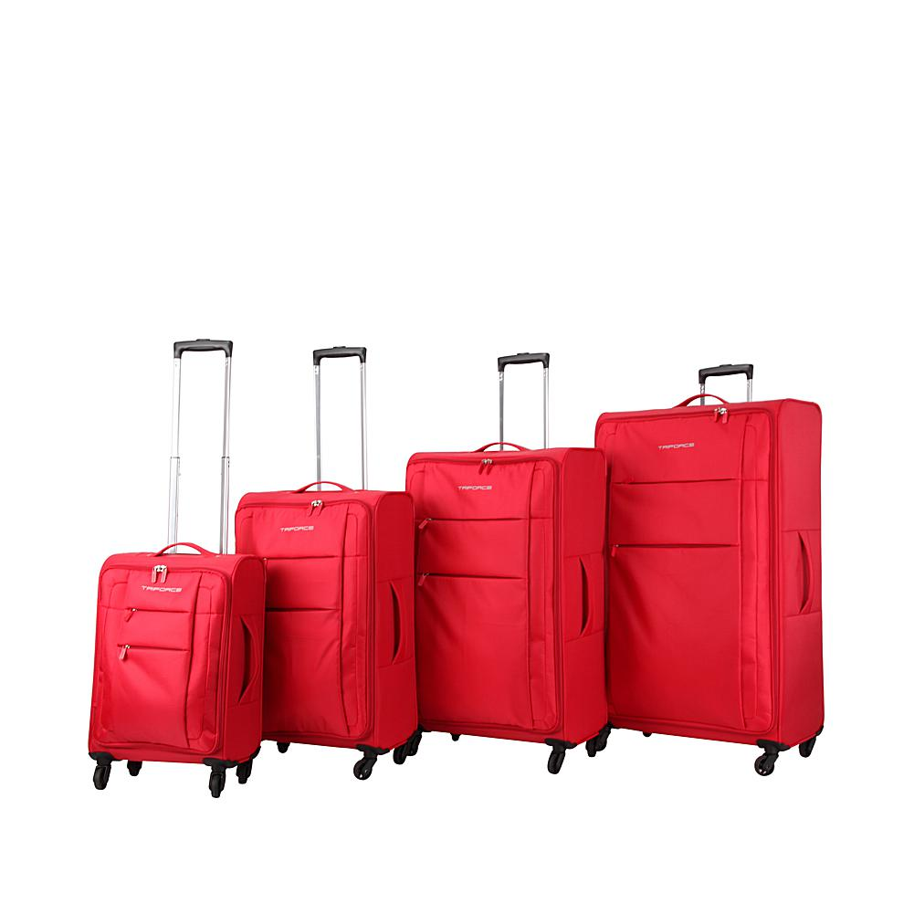 Triforce Luggage Aerea Collection 4-piece Nylon Soft-Sided Spinner Luggage Set