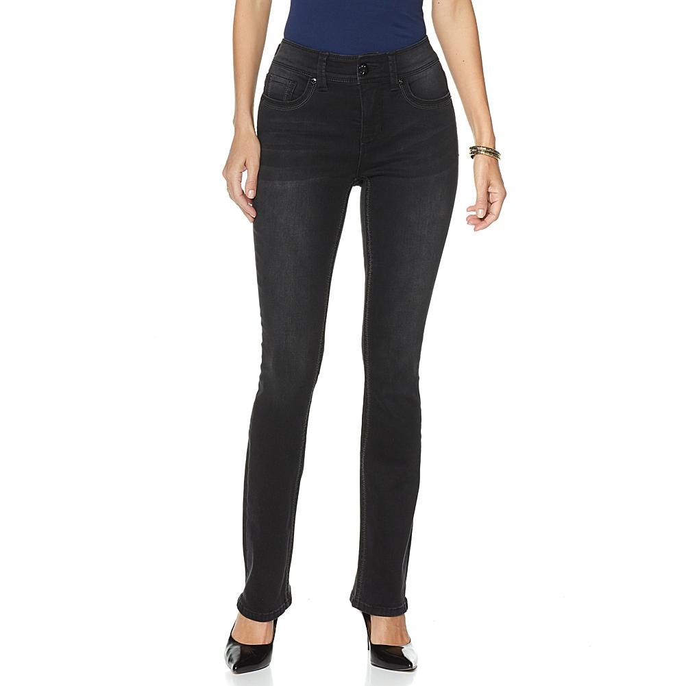 Melissa McCarthy Seven7 Stretch Slim Boot-Cut Jean with Double-Stitch Detail - Missy
