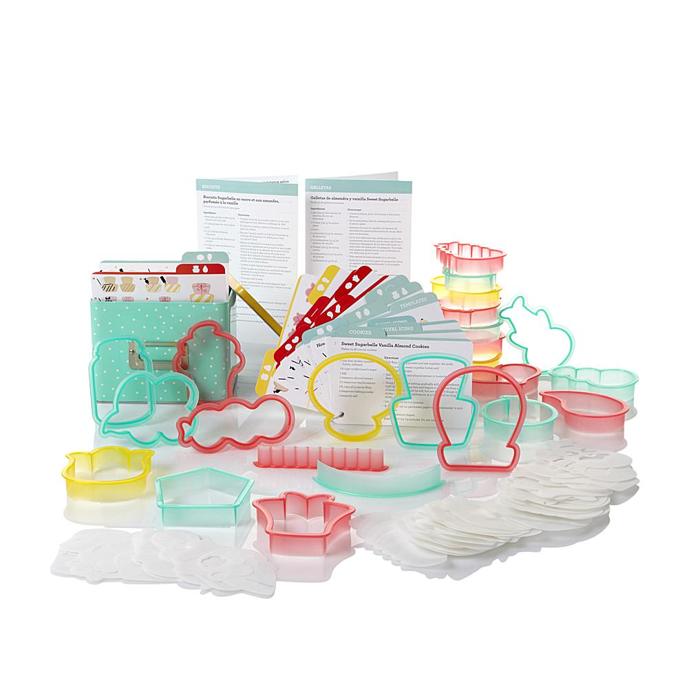 Crafts & Sewing Sweet Sugarbelle Shape Shifter Cookie Cutter Set with Recipe Tin