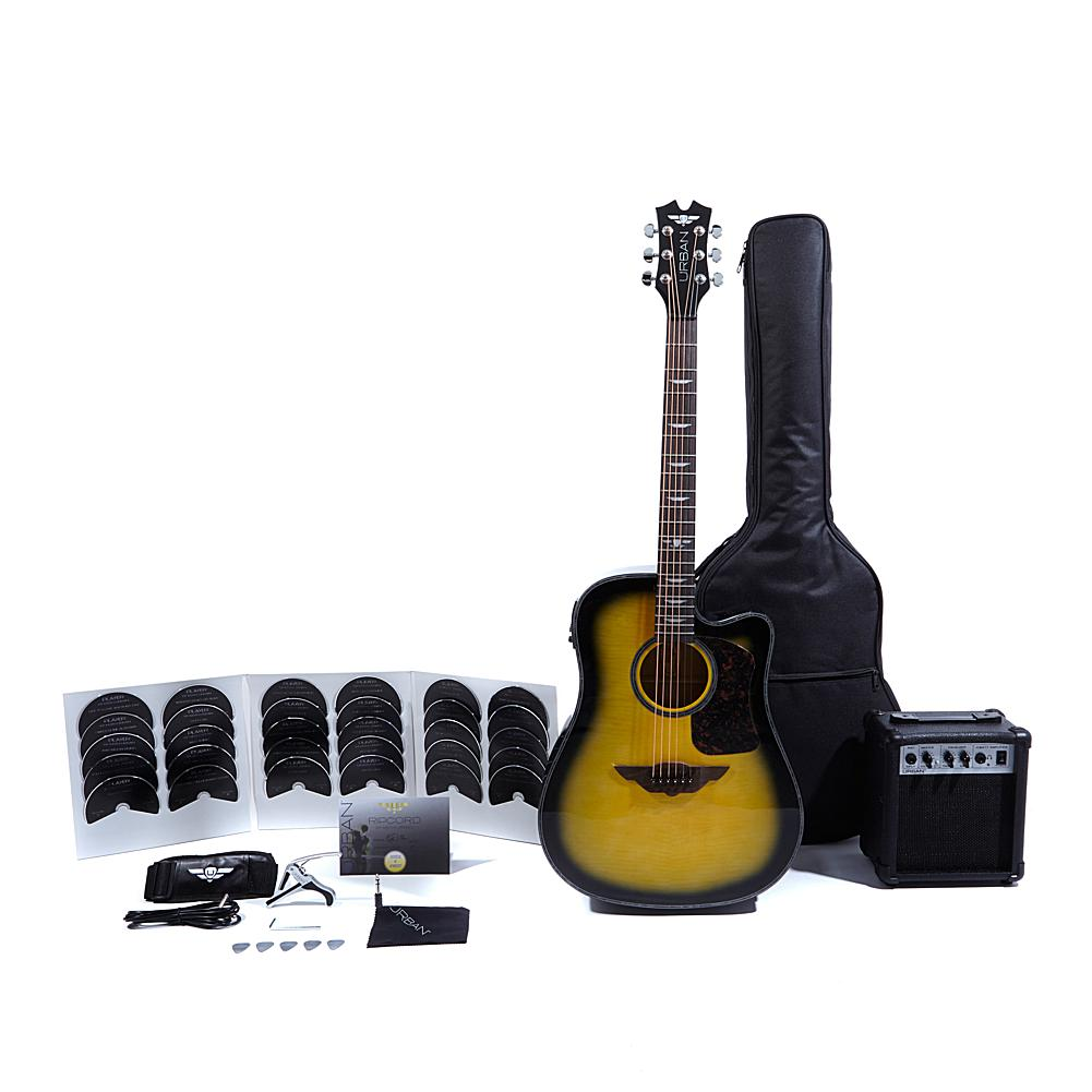 URBAN Guitar Collection Keith Urban Acoustic-Electric Ripcord 40-piece Guitar Package