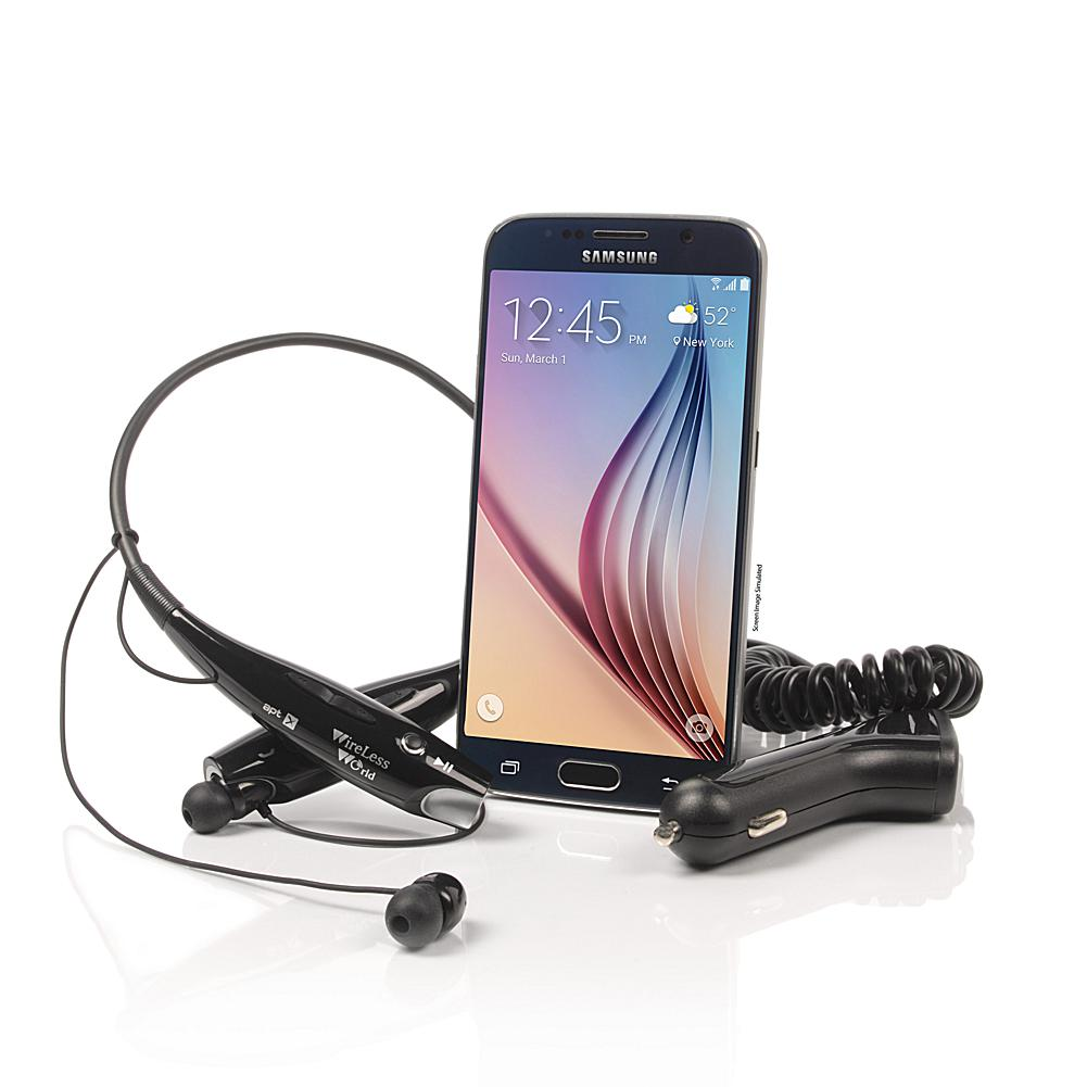 """Samsung Galaxy S6 5.1"""" Android Octa-Core 32GB TracFone With 16MP Camera, Bluetooth Headset And"