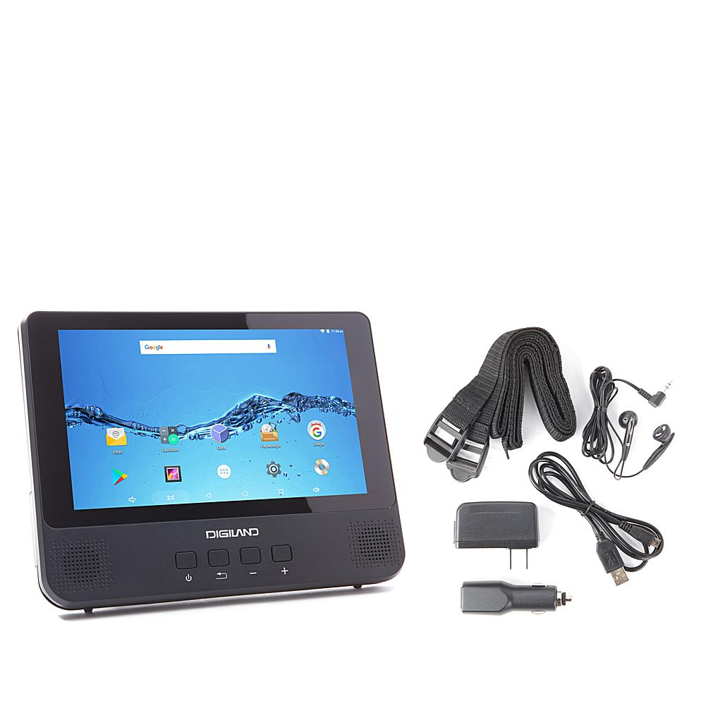 DigiLand 9 16GB Android Tablet and DVD Player Combo with Earbuds