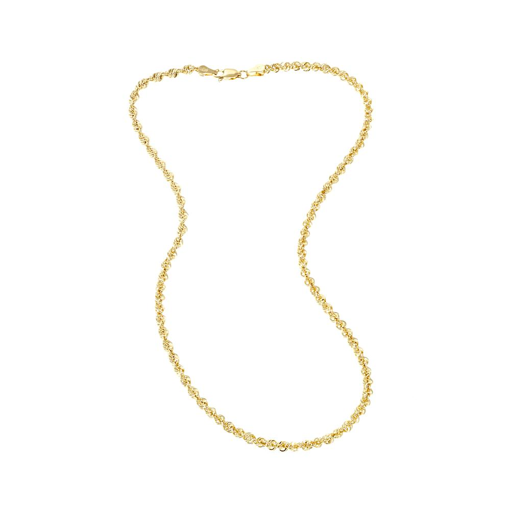 207cdb150 Michael Anthony Jewelry 10K 3.5mm Glitter Wave 16 Rope Chain Necklace