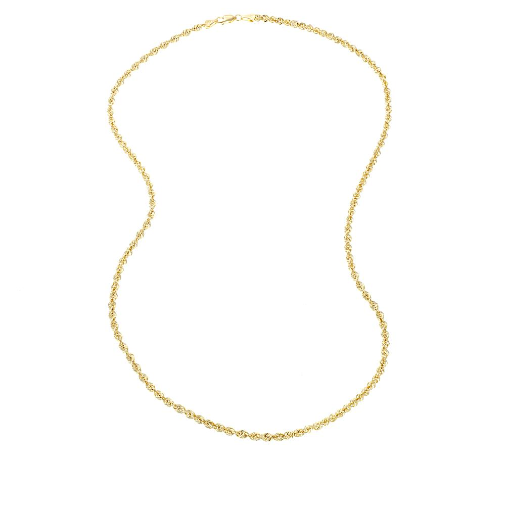 fee7f49a0 Michael Anthony Jewelry 10K 3.5mm Glitter Wave 22 Rope Chain Necklace