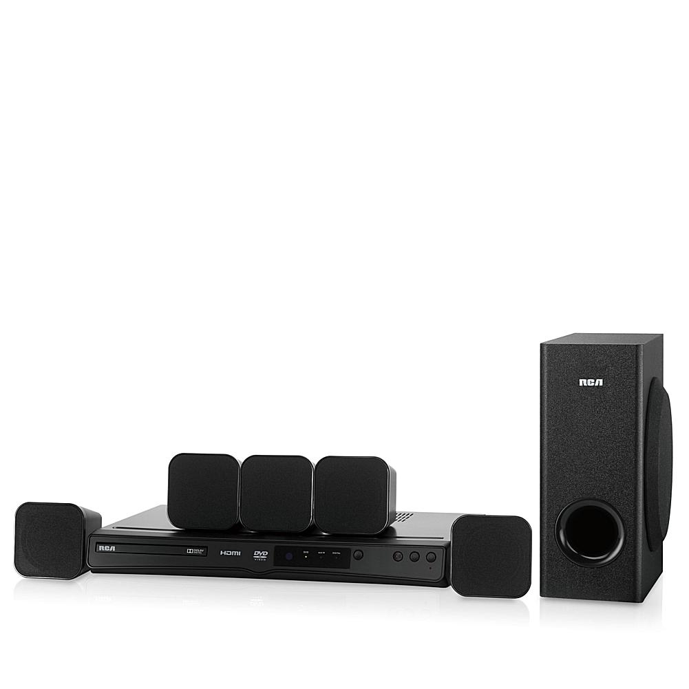 RCA 200W Home Theater Speaker and DVD Upconversion System with Dolby Digital 5.1 Surround Sound