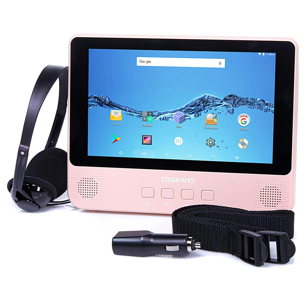 DigiLand 9 Quad-Core 32GB Android Tablet & DVD Player with Headphones