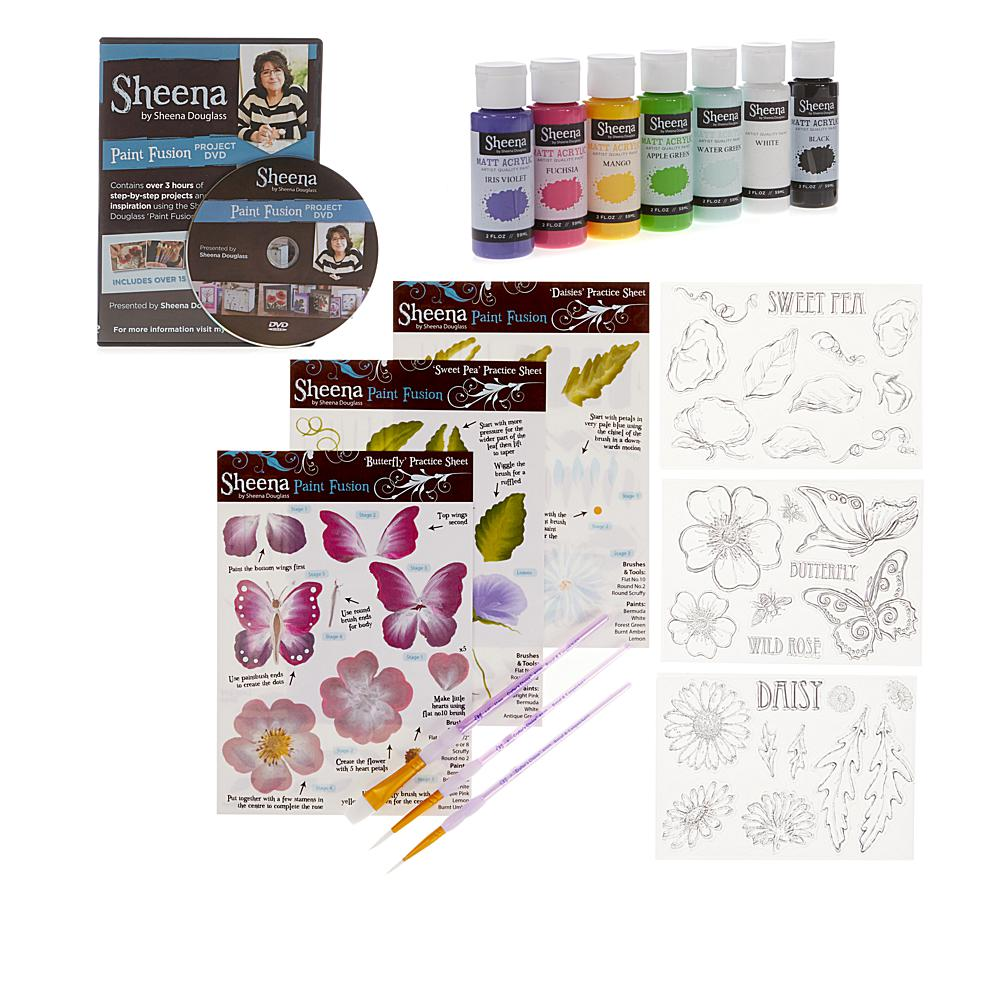 Crafts & Sewing Crafter's Companion Sheena Paint Fusion Bundle - Butterfly Floral