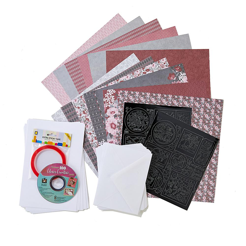 Scrapbooking Paper Wishes 100 Clever Creative Cards DVD Kit