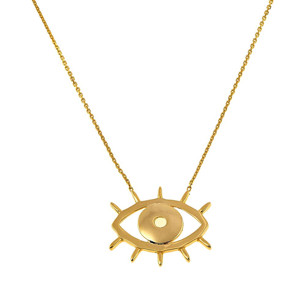 Rarities Fine Jewelry with Carol Brodie Rarities 14K Gold Evil Eye 16 Cable-Chain Necklace