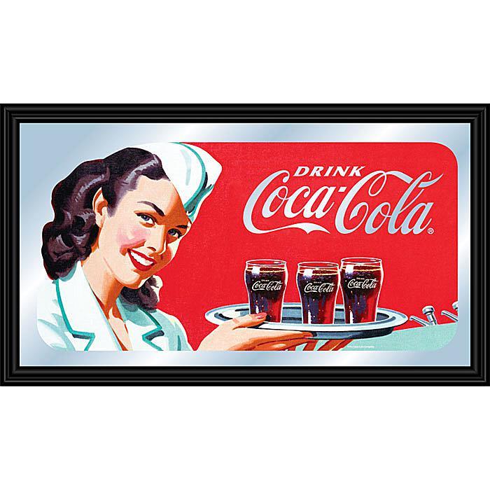 "Coca-Cola Vintage ""Waitress with Coke"" Horizontal Mirror plus size,  plus size fashion plus size appare"