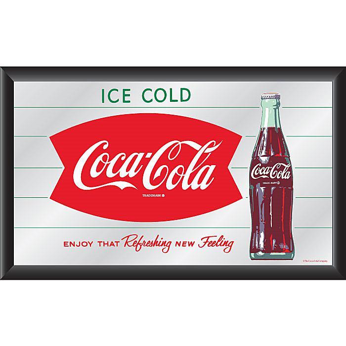 """Coca-Cola Vintage """"Refreshing New Feeling"""" Horizontal Mirror plus size,  plus size fashion plus size appare"""