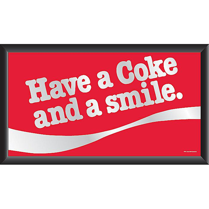 "Vintage ""Have a Coke and a Smile"" Horizontal Mirror plus size,  plus size fashion plus size appare"