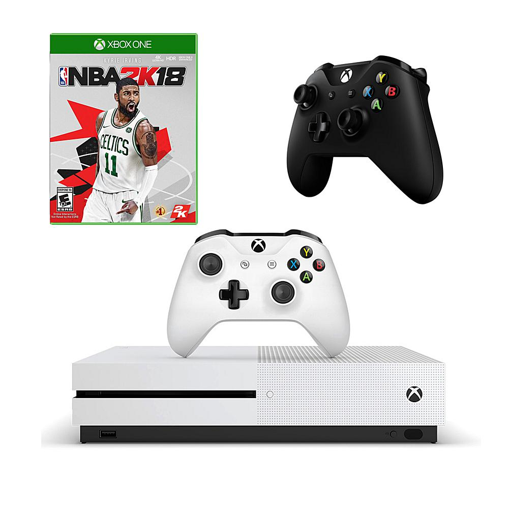 Microsoft Xbox One S 1TB 4K Game Console with NBA 2K18