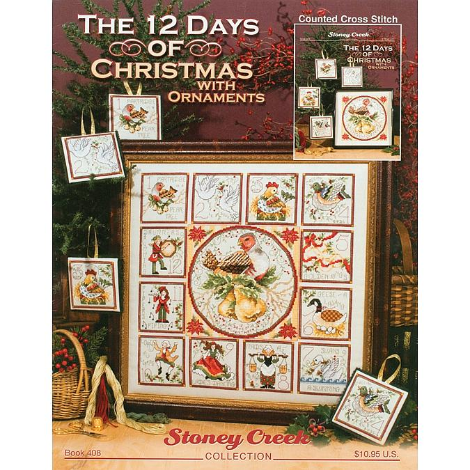 Counted Cross Stitch - The 12 Days of Christmas with Ornaments