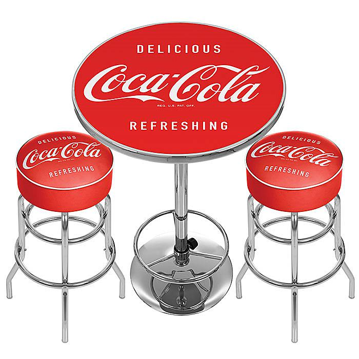 Coca-Cola Ultimate Gameroom Combo - 2 Bar Stools and a Table