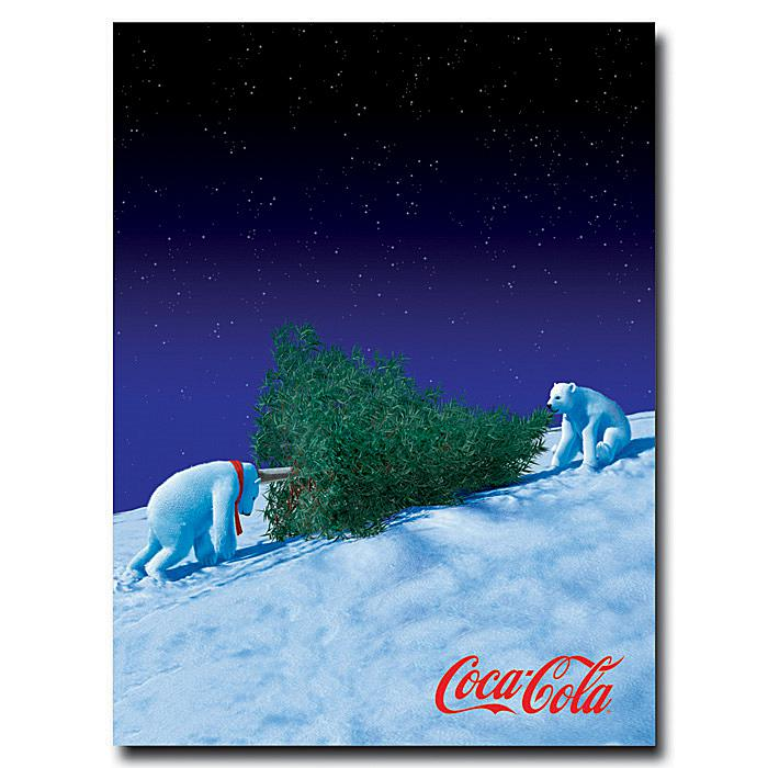 "Coca-Cola ""Polar Bears with Christmas Tree"" Canvas Art"