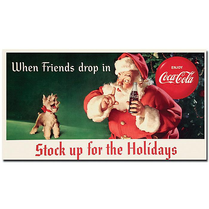 """Coca-Cola """"Stock up for the Holidays"""" Canvas Art"""