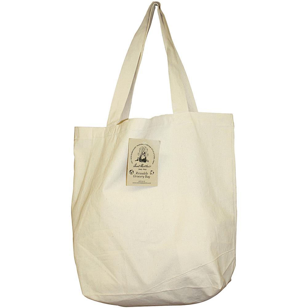 Aunt Martha's Reusable Canvas Grocery Bag - Natural