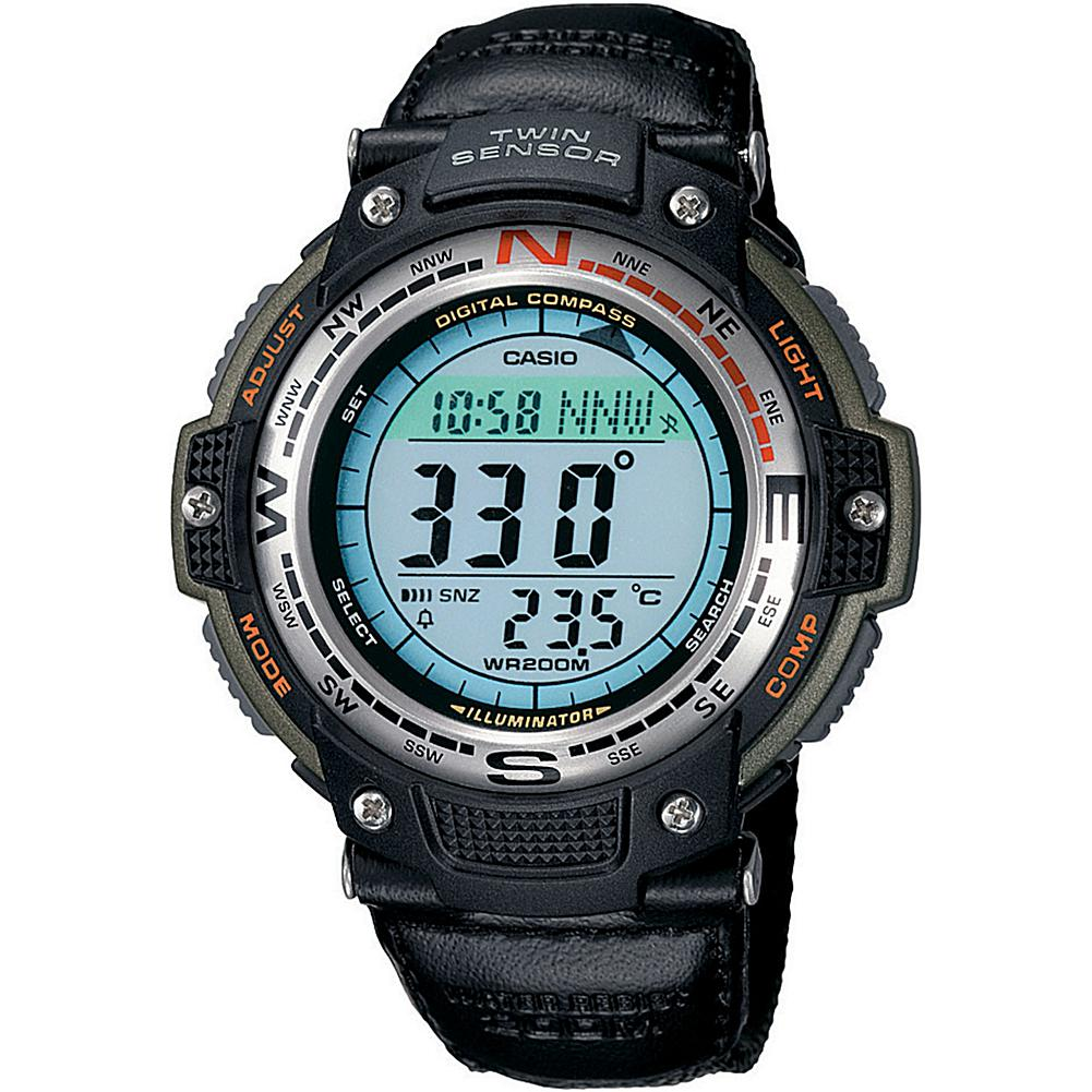 Casio Men's Green Sports Gear Digital Compass Watch with Green Nylon Band