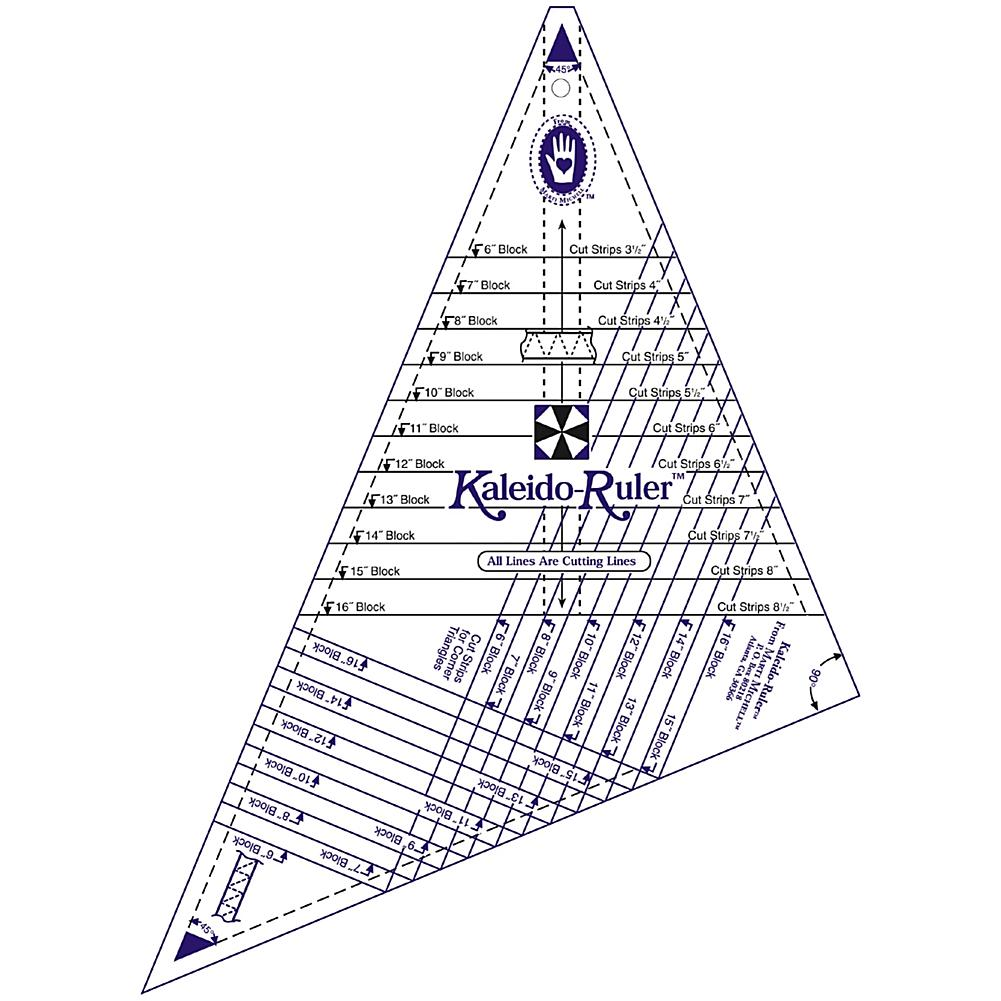 Crafts & Sewing Marti Michell Large Kaleido-Ruler - 6 To 16 Blocks