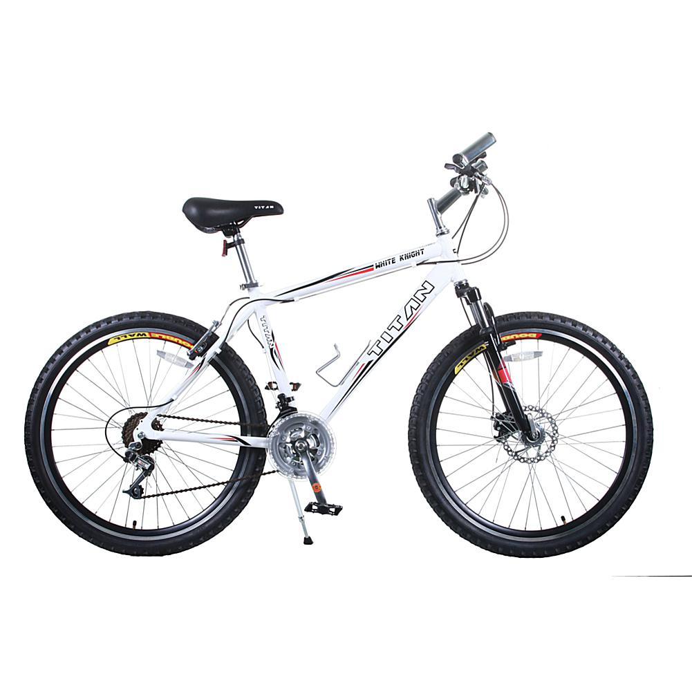 Bike USA Titan White Knight Men's 21-Speed Mountain Bike with Front Disc Brakes