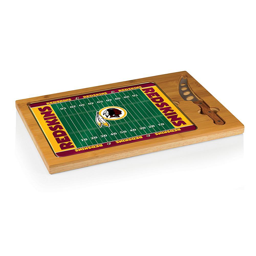 Football Fan Shop Picnic Time Icon Glass Top Cutting Board - Washington Redskins